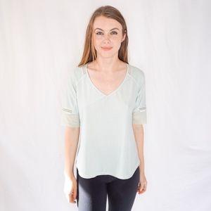 Lululemon Mint Green Perforated Workout T-Shirt 6